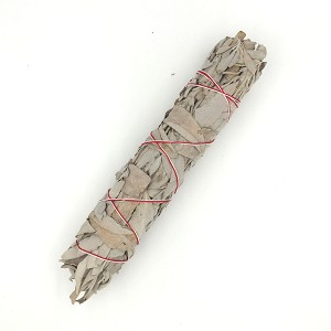 Sage Leaf, White, 9-inch Smudge Stick